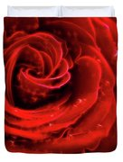 Beautiful Abstract Red Rose Duvet Cover by Oleksiy Maksymenko