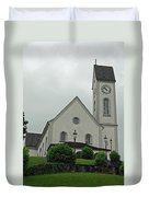 Beautiful Church In The Swiss City Of Lucerne Duvet Cover