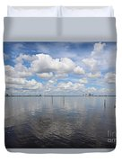 Beautiful Day In Tampa Duvet Cover