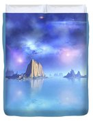 Beautiful Night Scene Of The Ocean Duvet Cover