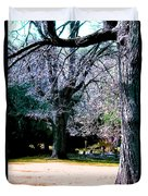 Beautiful Parkland Digital Drawing Duvet Cover