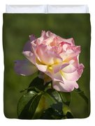 Beautiful Pink And Yellow Climbing Peace Rose Duvet Cover
