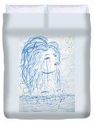 Beautiful Sea Woman Watercolor Painting Duvet Cover by Georgeta  Blanaru