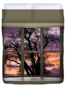 Beautiful Sunset Bay Window View Duvet Cover