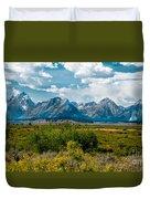 Beautiful Tetons Duvet Cover