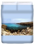 Beautiful View On Mediterranean Sea Cape Gkreko In Cyprus Duvet Cover