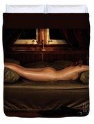 Beautiful Woman Sleeping Naked Duvet Cover