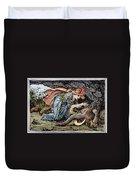 Beauty & The Beast, 1891 Duvet Cover