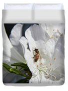 Beauty And The Bee Duvet Cover
