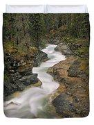 Beauty Creek, Banff National Park Duvet Cover