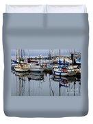 Beauty Of Boats Duvet Cover