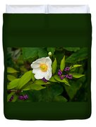 Beautyberry And Anemone 2 Duvet Cover