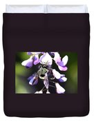 Bee And Blooms - Card Duvet Cover