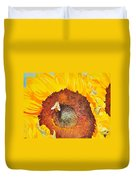 Bee And Sunflowers Duvet Cover