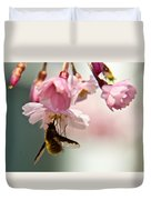 Bee Fly Feeding 2 Duvet Cover