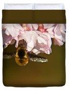 Bee Fly Feeding 5 Duvet Cover