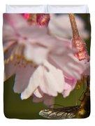 Bee Fly Feeding 8 Duvet Cover
