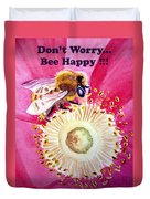 Bee Happy  Duvet Cover