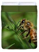 Bee In Green Duvet Cover
