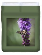 Bee On Gayfeather Squared 1 Duvet Cover
