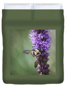 Bee On Gayfeather Squared 2 Duvet Cover