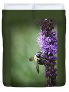 Bee On Gayfeather Duvet Cover