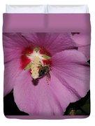 Bee On Rose Of Sharon Duvet Cover