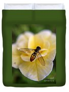 Bee On Yellow Flower Duvet Cover