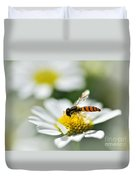 Bee With Rainbow Wings Duvet Cover