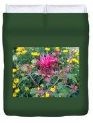 Beebalm Flower Duvet Cover