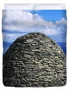 Beehive Huts At The Coast, Skellig Duvet Cover by The Irish Image Collection