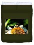 Beeing Healthy With Echinacea Pow Wow Duvet Cover