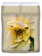 Beetle In Yellow Flower Duvet Cover