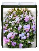 Begonias In Bloom Duvet Cover