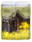 Behind Yellow Flowers Duvet Cover by Heiko Koehrer-Wagner
