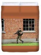 Belgian Infantrists Under Attack Duvet Cover by Luc De Jaeger