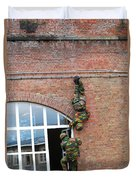 Belgian Paratroopers Rappelling Duvet Cover