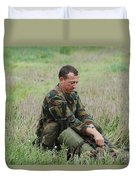Belgian Paratroopers Red Berets Duvet Cover