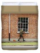 Belgian Soldiers On Patrol Duvet Cover