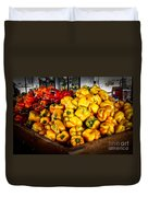 Bell Peppers Duvet Cover by Robert Bales