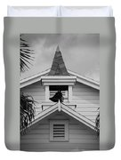 Bell Tower In Black And White Duvet Cover