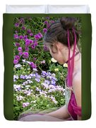Belle In The Garden Duvet Cover by Angelina Vick