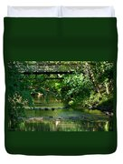 Below The Bridge Is Another World Duvet Cover
