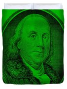Ben Franklin In Green Duvet Cover