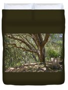 Bench And Tree In Cambria II Duvet Cover