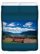Bench With Panorama View Duvet Cover
