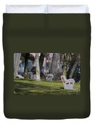 Benches Duvet Cover
