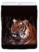 Bengal Tiger Watching Prey Duvet Cover