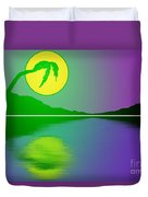Bent Palm Sunrise Duvet Cover