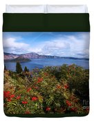 Berries By The Lake Duvet Cover